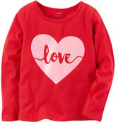 Carter's Long-Sleeve Love Graphic Tee