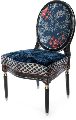 Mackenzie Childs Bluetopia Side Chair