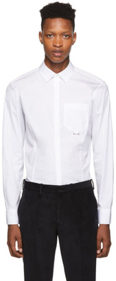Neil Barrett White Patch Pocket Piercing Shirt