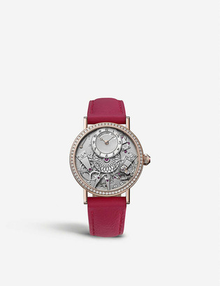 Breguet G7038BR189V6D00D Tradition 18ct rose-gold, mother of pearl, diamond and leather watch