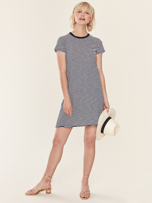 ATM Anthony Thomas Melillo Stripe Jersey Short Sleeve Dress