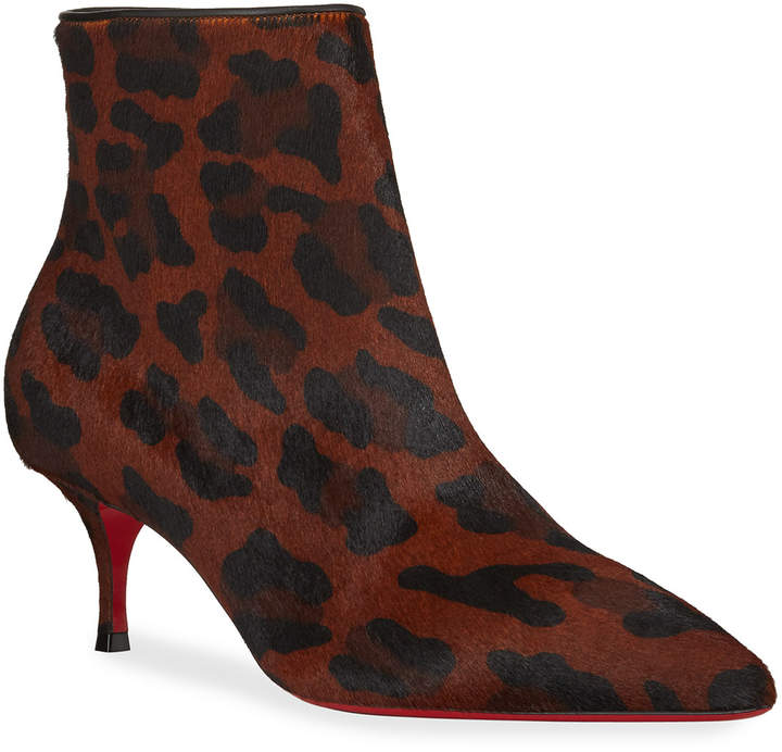 cde1e70cad1 So Kate Leopard Red Sole Booties