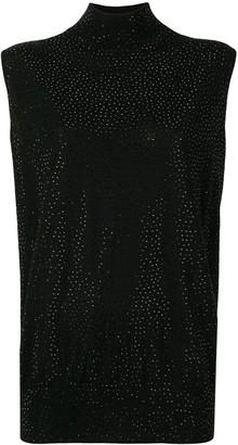 Emporio Armani Crystal Studded Blouse