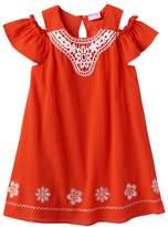 Nannette Girls 4-6x Embroidered Off-the-Shoulder Gauze Dress