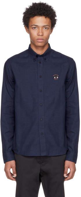 Kenzo Navy Embroidered Eye Shirt