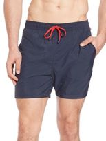 Saks Fifth Avenue Collection Contrast-Drawstring Swim Trunks