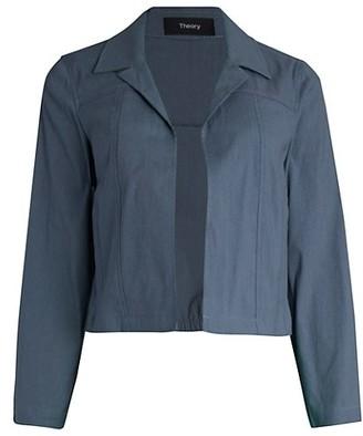 Theory Shrunken Linen-Blend Jacket