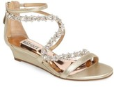Badgley Mischka Women's Belvedere Embellished Wedge Sandal