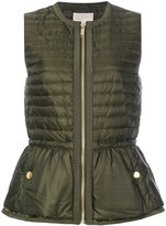 MICHAEL Michael Kors feather down padded peplum gilet