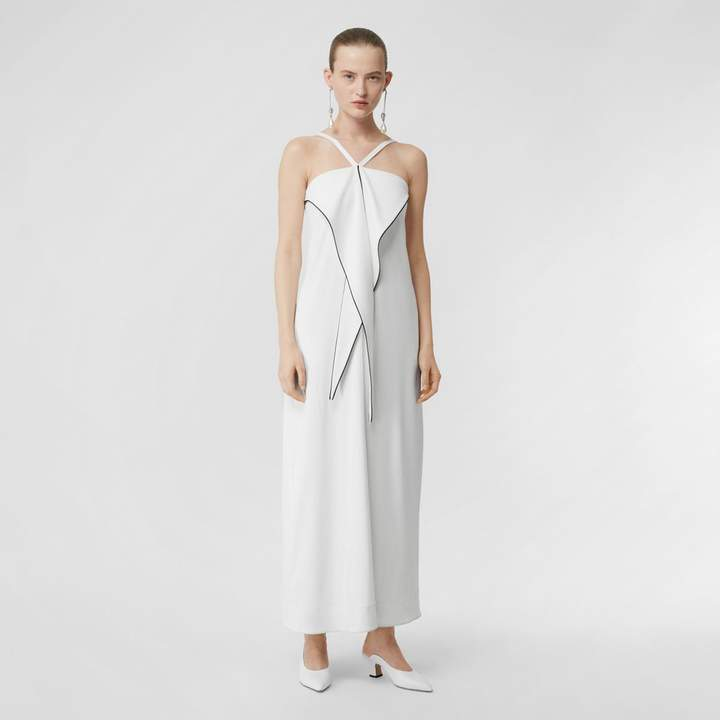 Burberry Drape Detail Stretch Jersey Gown
