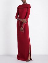 Antonio Berardi Laced-detail crepe gown