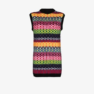 AGR Diamond stripe knit dress