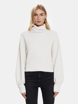 A Gold E Agolde Balloon Sleeve Turtleneck Sweatshirt