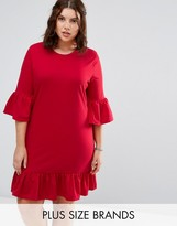 Alice & You Extreme Frill Sleeve And Hem Shift Dress