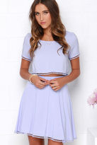 LuLu*s Lovely Com-Beau Denim Blue Two-Piece Dress