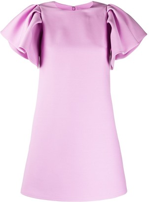 Valentino Flutter Sleeve Dress