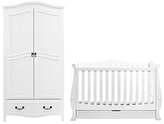 Silver Cross Windsor Sleigh Cotbed and Wardrobe, Solid White