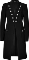 Just Cavalli Black Silver Button Embellished Coat