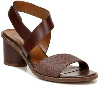 Franco Sarto Round-Heel Leather Sandals - Barda