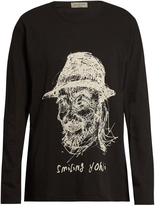 Yohji Yamamoto Smiling Yohji long-sleeved cotton top