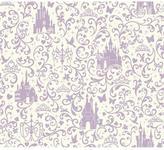 York Wall Coverings York Wallcoverings 56 sq. ft. Walt Disney Kids II Small Scroll with Castles Wallpaper