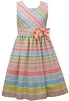 Bonnie Jean Girls 7-16 Striped Crochet Waist Dress