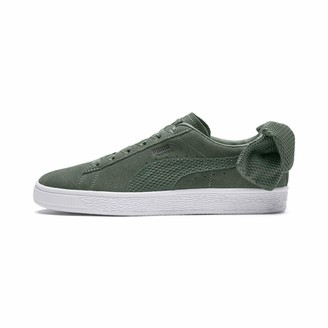 Puma Women's Suede Bow Uprising WN's Low-Top Sneakers Grey