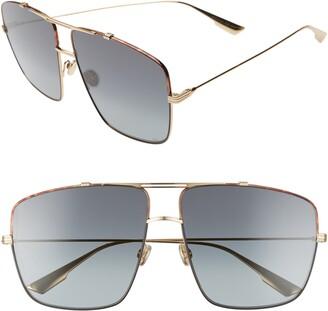 Christian Dior Monsieur2 64mm Oversize Aviator Sunglasses