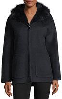 Belle Fare Reversible Wool-Blend & Fur Jacket