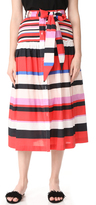 Nicholas N Amalfi Stripe Midi Skirt