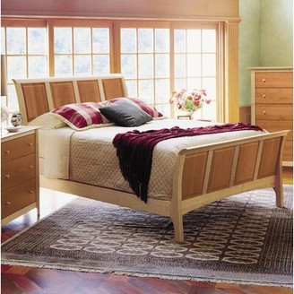 """Copeland Furniture Sarah Sleigh Bed Size: King, Color: Maple and Cherry, Headboard Height: 45"""""""