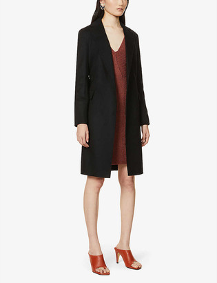 Theory Single-breasted wool and cashmere-blend coat