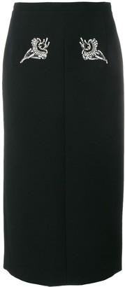 No.21 Crystal Embellished Skirt