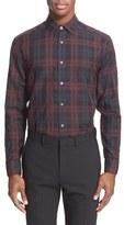 Paul Smith Men's Trim Fit Plaid Dress Shirt