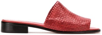 Sarah Chofakian Leather Mules