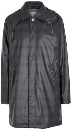 Rains Grey checked coated raincoat