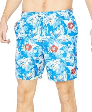 """Nautica Men's Hibiscus Print 8"""" Swim Trunks"""