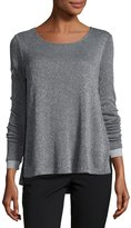 Three Dots Shimmer Knit Sweater, Charcoal