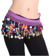 ECYC Belly Dancing Dance Waistband Hip Skirt Scarf With Multicolor Sequins
