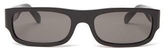 Celine Show Rectangular Acetate Sunglasses - Black