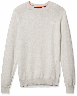 Superdry Men's Orange Label Cotton Crew Sweater
