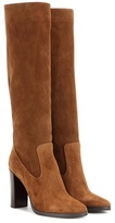 Jimmy Choo Honor 95 Suede Knee-high Boots