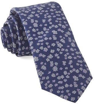 Tie Bar Free Fall Floral Lavender Tie