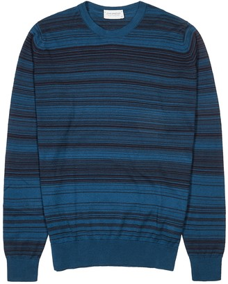 John Smedley Woodland striped cotton jumper