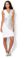 Erin Fetherston Sequin Combo Fitted Sheath Dress