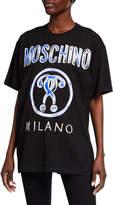 Moschino Logo Graphic Unisex T-Shirt, Black