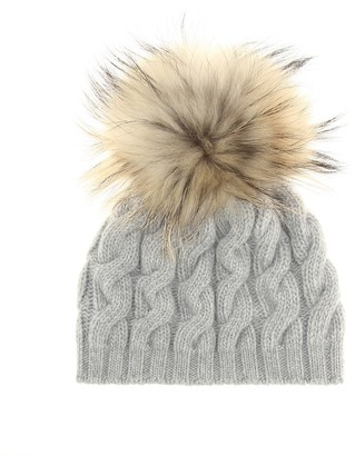 Il Gufo Fur-trimmed wool beanie