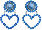 Safsafu LOVE ME BLUE CLIP-ON EARRINGS