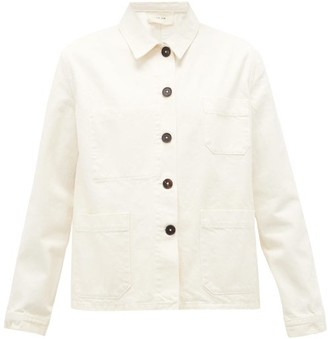 The Row Kurt Patch-pocket Denim Jacket - Cream