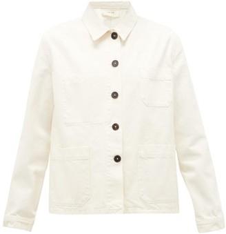 The Row Kurt Patch-pocket Denim Jacket - Womens - Cream